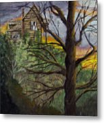 Haunted House Metal Print by Quwatha Valentine