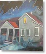 Haunted House Metal Print