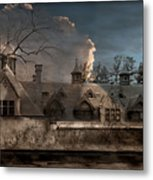 Haunted Stable Metal Print