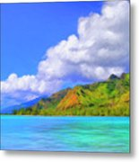 Hauru Point Moorea Metal Print