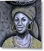 Hausa Maiden  Metal Print