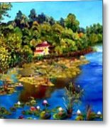 Hause By The Lake Metal Print