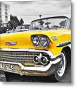 Havana Chevy Dreams  Metal Print