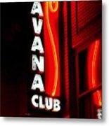 Havana Club At Night Metal Print