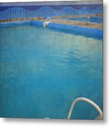 Havana Cuba Swimming Pool And Ocean Metal Print