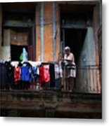Havana Laundry No. 1 Metal Print