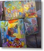 Havana Market Artwork Metal Print