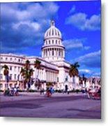 Havana National Capitol Metal Print