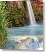 Havasu Falls Travertine Ledge Metal Print
