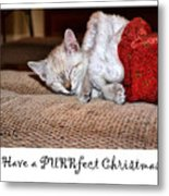 Have A Purrfect Christmas Metal Print