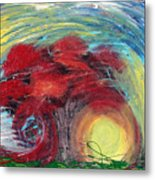 Havoc Winds And Strong Tree Metal Print