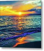 Hawaii Beach Sunset 149 Metal Print