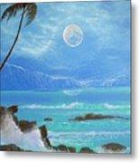 Hawaii Night Seascape Metal Print