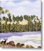 Hawaii Postcard Metal Print