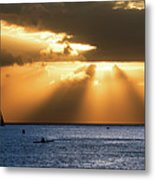 Hawaii Sunset Panorama Metal Print