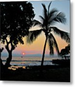 Hawaiian Big Island Sunset  Kailua Kona  Big Island  Hawaii Metal Print