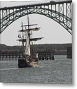 Hawaiian Chieftain In Yaquina Bay Metal Print