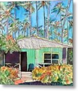 Hawaiian Cottage I Metal Print