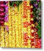 Hawaiian Flower Lei's Metal Print