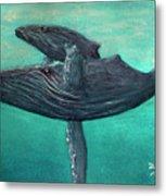 Hawaiian Humpback Whales #455 Metal Print