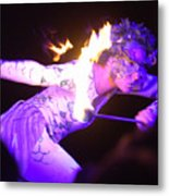 Hawaiian Luau Fire Eater 2 Metal Print