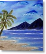 Hawaiian Palms Metal Print