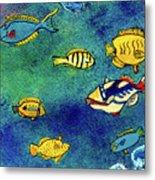 Hawaiian Reef  Fish #223 Metal Print