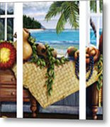 Hawaiian Still Life With Haleiwa On My Mind Metal Print