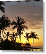 Hawaiian Sunset Design Metal Print