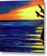 Hawaiian Sunset With Hula Dance  #183, Metal Print