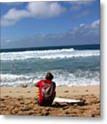Hawaiian Surfer Metal Print