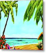 Hawaiian Tropical Beach #367  Metal Print