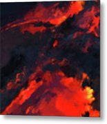 Hawaiian Volcano Lava Flow Metal Print