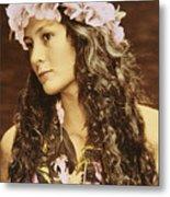 Hawaiian Wahine Metal Print