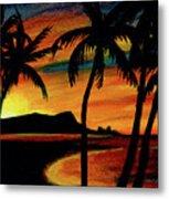 Hawaiian Waikiki Sunrise Over Diamond Head  #266 Metal Print