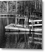 Hawk Island Michigan Dock  Metal Print