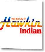 Hawkins Badge Metal Print