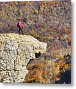 Hawksbill Crag In Autumn Metal Print