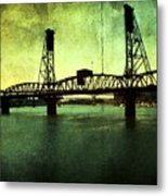 Hawthorne Bridge Metal Print by Cathie Tyler