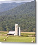 Hay Farm In The Country Metal Print by Danielle Allard