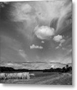 Hay Field And Barn Clarks Lake Road Metal Print