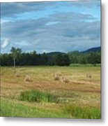 Hay Fields In The Adirondacks Metal Print