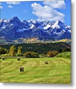 Hay With A View Metal Print