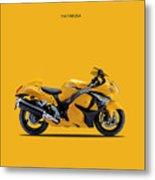Hayabusa In Yellow Metal Print