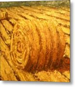 Haybale II Metal Print by Jaylynn Johnson