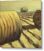 Haybales Metal Print by Jaylynn Johnson
