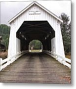Hayden Bridge Covered Bridge Metal Print