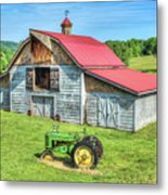 Hayesville Barn And Tractor Metal Print