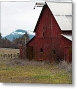 Hayfork Red Barn Metal Print