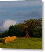 Haymaker Clouds Metal Print